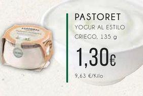 Oferta de  Pastoret yogur al estilo griego, 135 g. por 1,3€