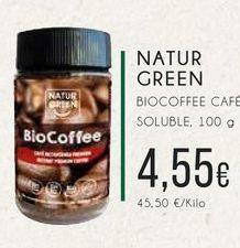 Oferta de Naturgreen Biocaffee café soluble, 100 g. por 4,55€