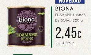 Oferta de Biona Edamame (hadas de soja)220 g. por 2,45€