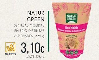 Oferta de Naturgreen semillas molidas en frio distintas variedades, 225 g. por 3,1€
