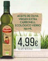Oferta de Aceite de oliva virgen extra Carbonell ecológico vidrio, 750 ml. por 4,99€