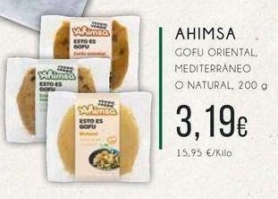 Oferta de Ahimsa Gofu oriental mediterráneo o natural, 200g. por 3,19€