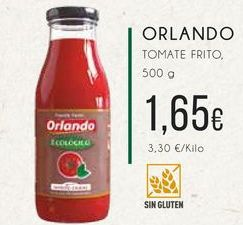Oferta de Orlando. Tomate frito, 500g. por 1,65€