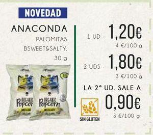 Oferta de Anaconda palomitas bsweet&salty, 30 g. por 1,2€