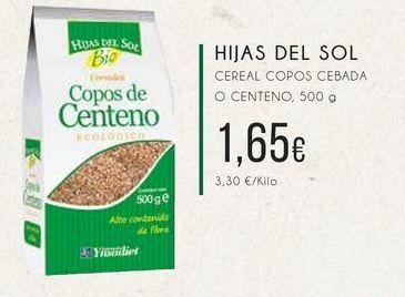 Oferta de  Hijas del Sol Cereal copos cebada o centeno, 500g por 1,65€