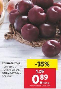 Oferta de Ciruelas por 0,89€