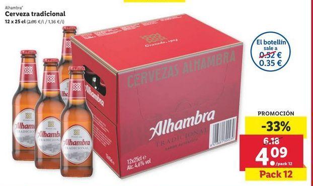 Oferta de Cerveza Alhambra por 4,09€