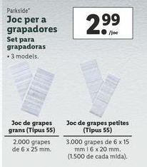 Oferta de Grapas Parkside por 2,99€