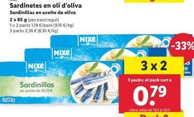 Oferta de Sardinas en aceite nixe por 1,19€