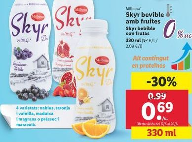 Oferta de Yogur Milbona por 0,69€