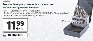Oferta de Set de brocas Parkside por 11,99€
