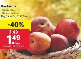 Oferta de Nectarinas por 1,49€