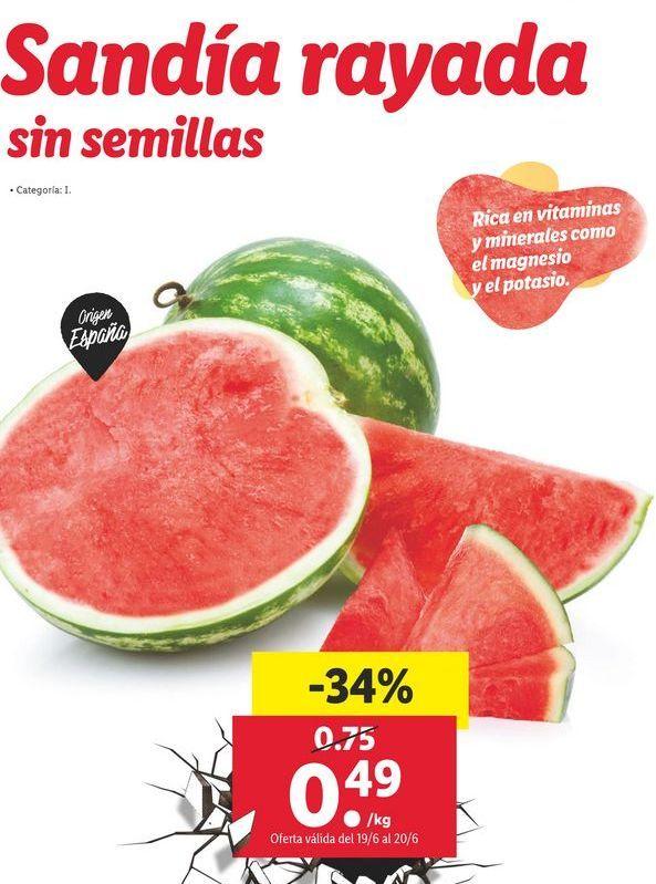 Oferta de Sandía por 0,49€