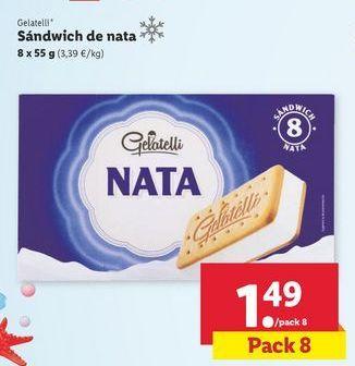Oferta de Helado sandwich Gelatelli por 1,49€