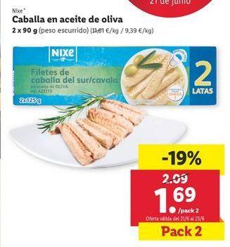 Oferta de Caballa en aceite de oliva nixe por 1,69€