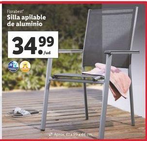 Oferta de Silla apilable Florabest por 34,99€
