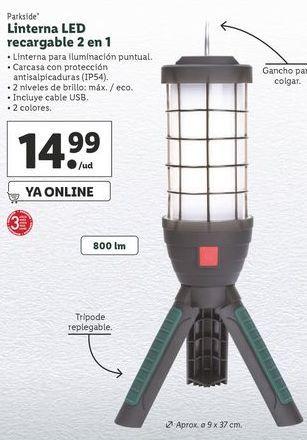 Oferta de Linterna Parkside por 14,99€