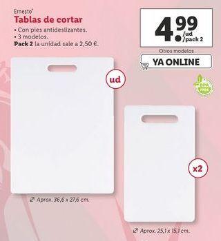 Oferta de Tabla de cortar ernesto por 4,99€