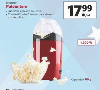 Oferta de Palomitero SilverCrest por 17,99€