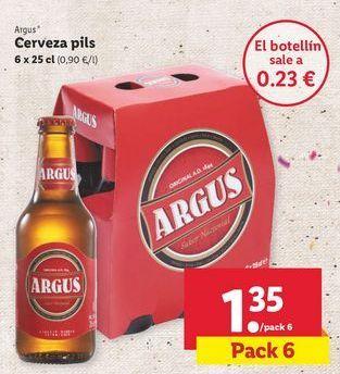 Oferta de Cerveza Argus por 1,35€