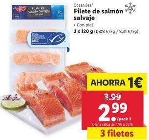 Oferta de Filetes de salmón por 2,99€