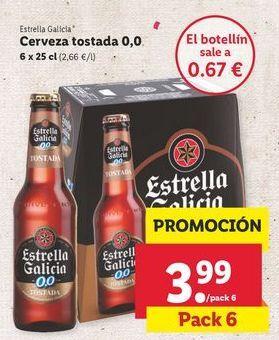 Oferta de Cerveza sin alcohol Estrella Galicia por 3,99€