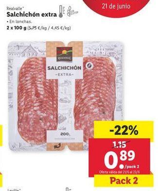 Oferta de Salchichón extra Realvalle por 0,89€