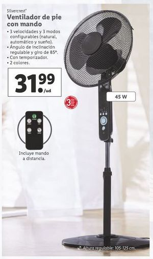 Oferta de Ventilador de pie SilverCrest por 31,99€