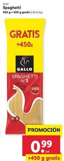 Oferta de Espaguetis Gallo por 0,99€