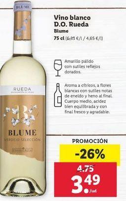 Oferta de Vino blanco Blume por 3,49€