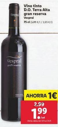 Oferta de Vino tinto Vespral por 1,99€