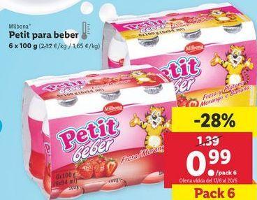 Oferta de Yogur Milbona por 0,99€