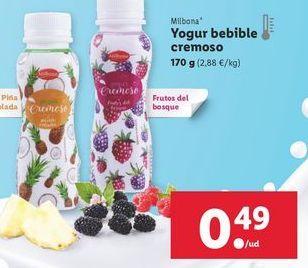 Oferta de Yogur Milbona por 0,49€