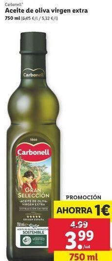 Oferta de Aceite de oliva virgen Carbonell por 3,99€