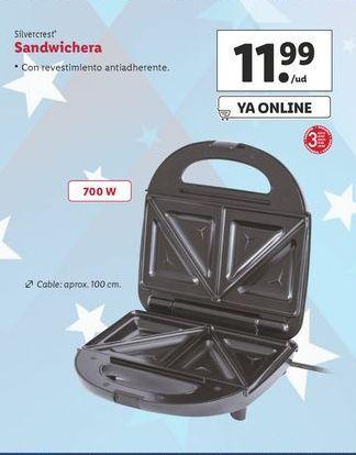 Oferta de Sandwichera SilverCrest por 11,99€