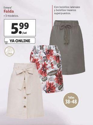 Oferta de Faldas esmara por 5,99€