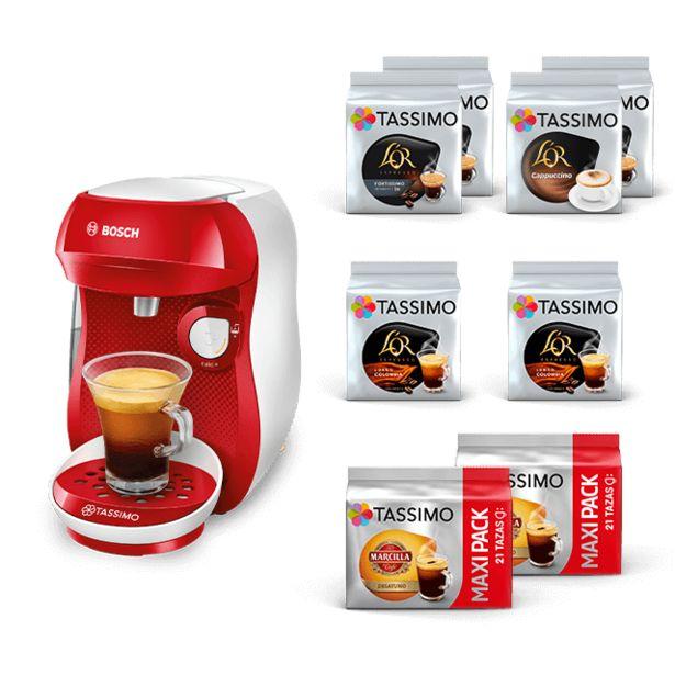 Oferta de Happy - Rojo + Café negro y leches por 39,99€