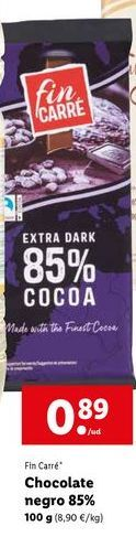 Oferta de Chocolate negro Fin Carré por 0,89€