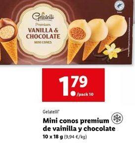Oferta de Conos de vainilla Gelatelli por 1,79€