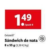 Oferta de Sandwiches Gelatelli por 1,49€