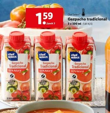Oferta de Gazpacho chef select por 1,59€