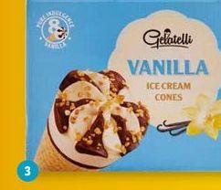 Oferta de Conos de vainilla Gelatelli por 1,89€