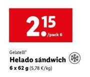 Oferta de Helados Gelatelli por 2,15€