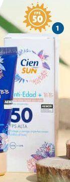 Oferta de Crema facial solar Cien por 4,99€