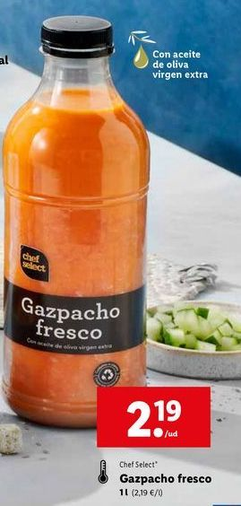 Oferta de Gazpacho chef select por 2,19€