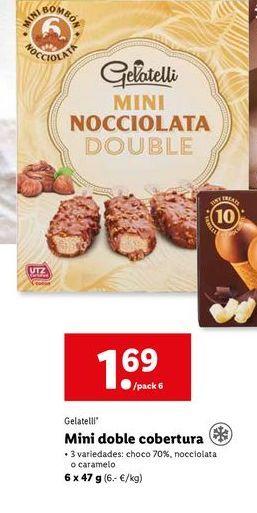 Oferta de Helado de chocolate Gelatelli por 1,69€