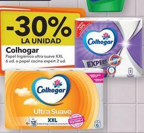 Oferta de Colhogar Papel higiénico ultra suave XXL o papel cocina expert  por