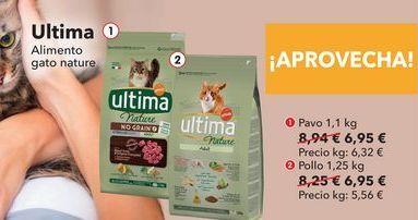 Oferta de Ultima Alimento gato nature  por 6,95€