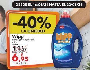 Oferta de Wipp Detergente gel azul  por 6,95€