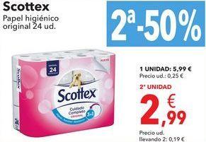 Oferta de Scottex Pape higiénico  por 5,99€